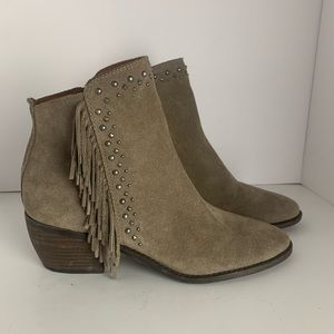 Lucky Brand Fringed Ankle Boots